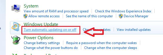 Tắt tính năng update trên windows 7