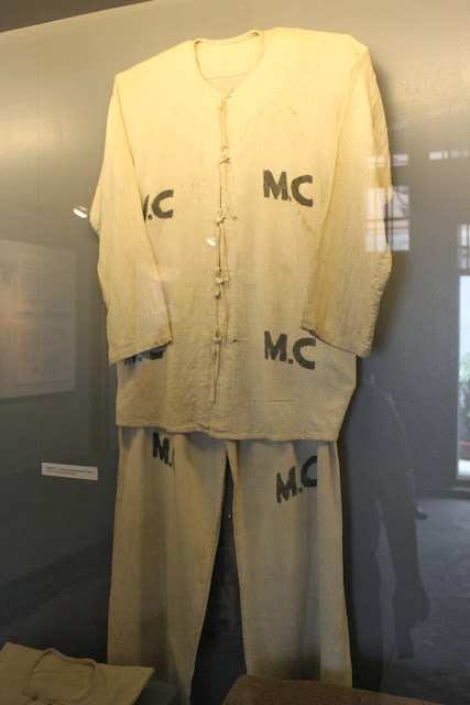 Prisoners' clothing at Maison Centre (Hoa Lu Prison) in Hanoi, Vietnam