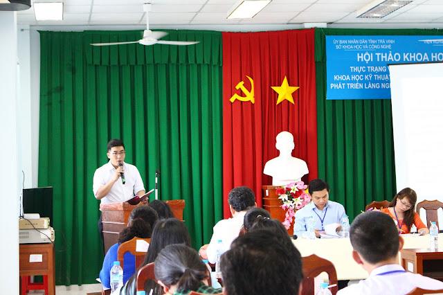 Ths. KS. Nguyễn Minh Đức - Liên hiệp Khoa học Kinh tế - Đô thị Nam bộ phát biểu tại Hội thảo