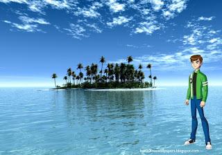 Desktop Wallpapers Ben 10 Standing Walking Tall in Paradise Island desktop wallpaper