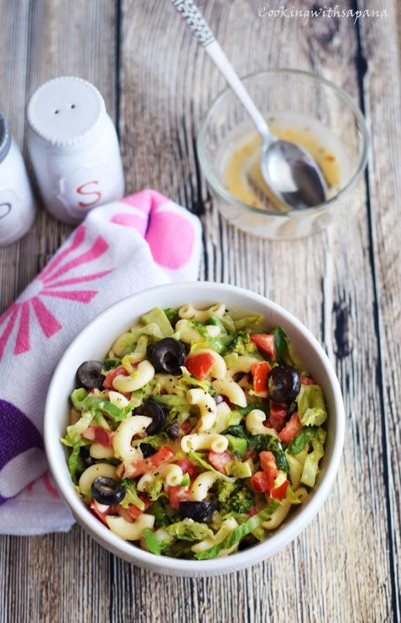 BLT Macaroni Salad - Cookingwithsapana