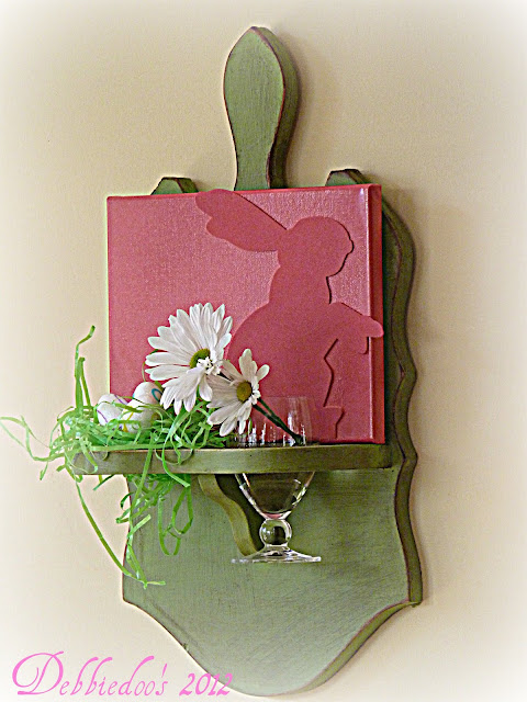 springcraft Spring art work {diy canvas}