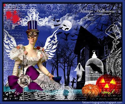 fondo Halloween vintage
