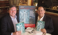 Michael Gaunt with Professor Alan Dardik launching their new book - Outpatient Surgery in New York