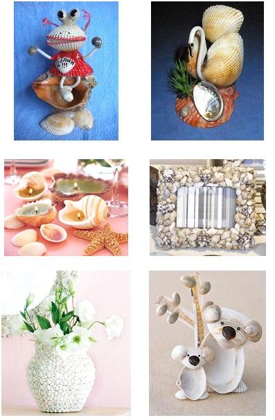 Proyectos de ciencias reciclando conchas de mar - Manualidades con conchas ...