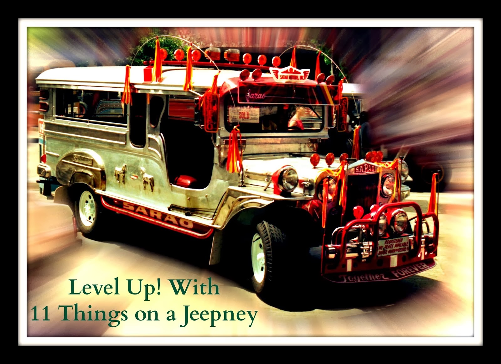 11 Things on a Jeepney