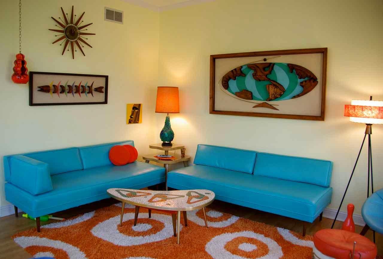 Estilo retro en la decoraci n de salas de estar ideas para decorar - Decoracion retro ...