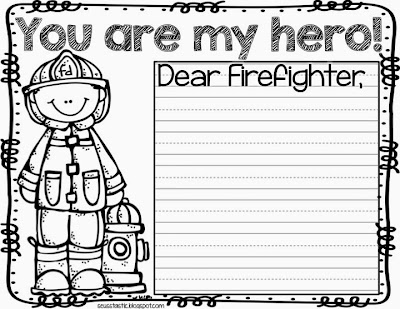 Thank You Firefighters Coloring Page