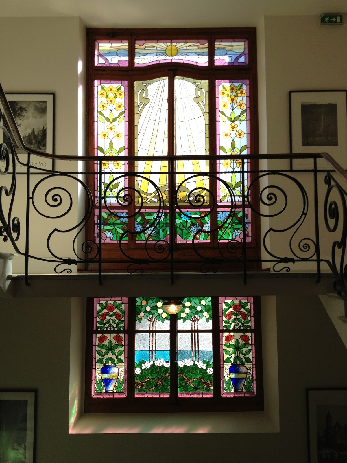 Where beechmast falls art nouveau stained glass in a for Art glass windows