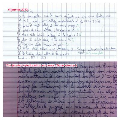 écriture dysgraphique et rééducation