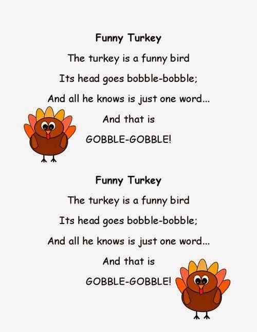 Famous Thanksgiving Short Poems For Kids