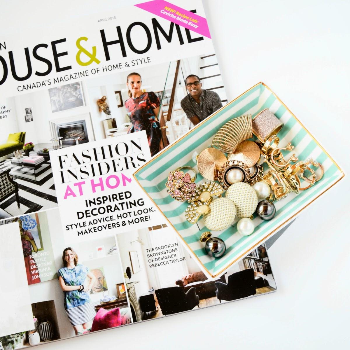 House and Home Magazine & J Crew Jewelry Dish