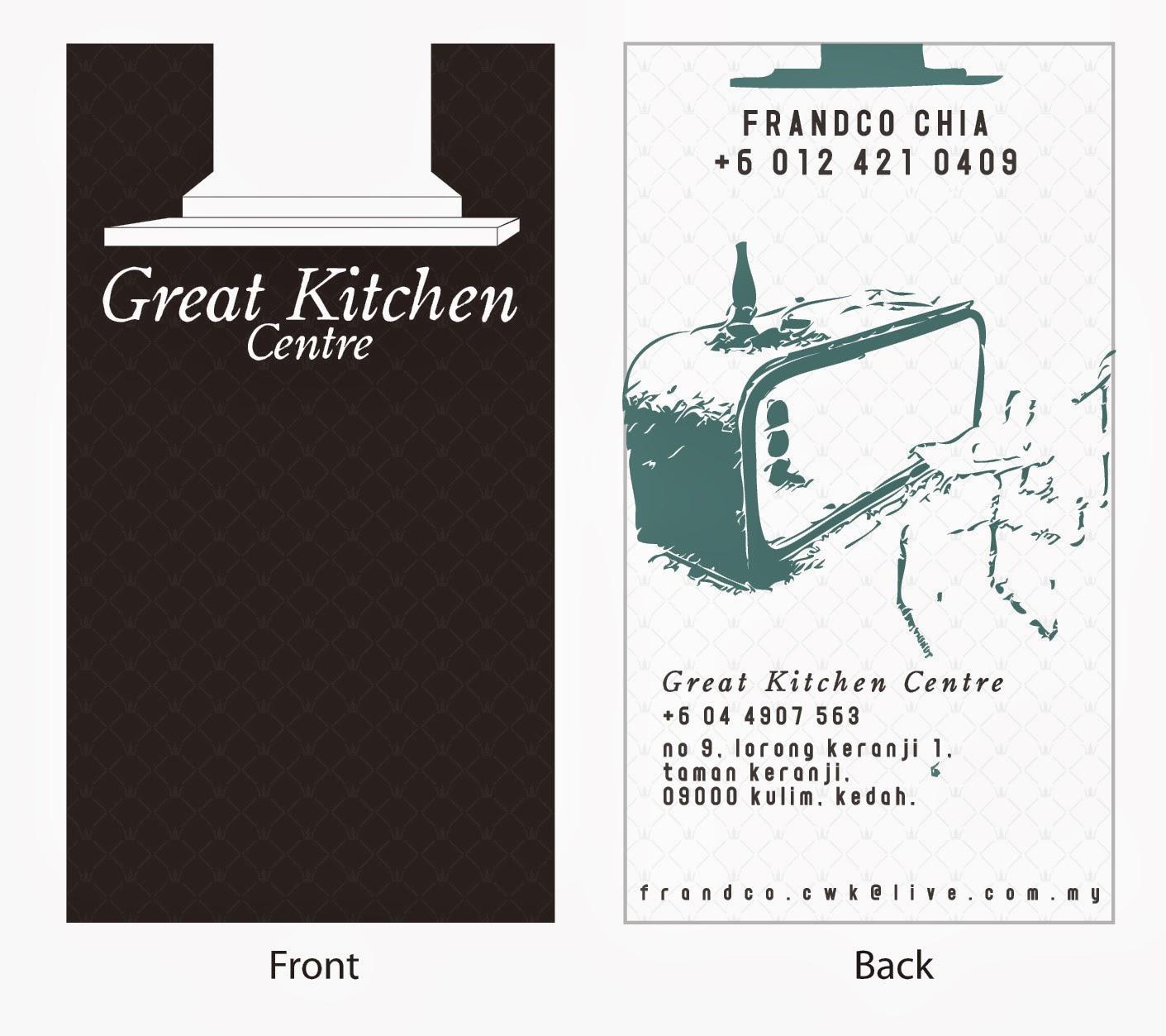 K s design 2010 Great Kitchen Centre s Business Card design