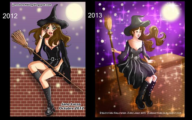 Comparación de dibujos de halloween