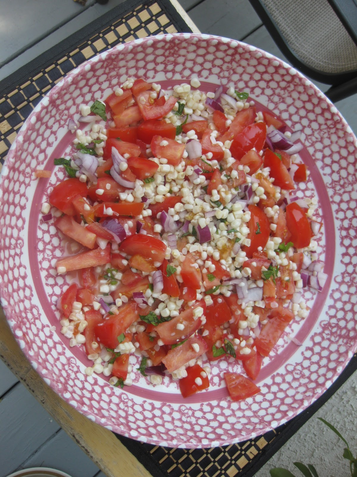 Gluten Free A-Z Blog: Jersey Corn and Tomato Salad