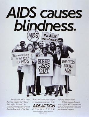 Historia de las campañas SIDA VIH AIDS Causes Blindness