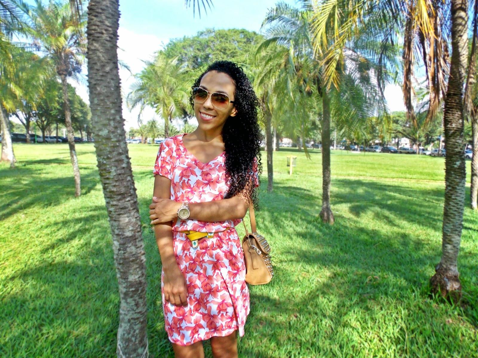 blog Gleikka, look Gleikka, vestidinho de verão, vestido estampado, look fresco, look do dia, look colorido e divertido