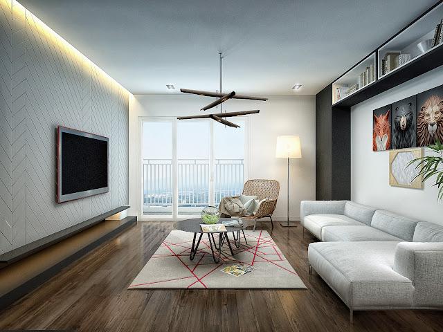 Thiết kế phòng khách căn hộ GoldSilk Complex
