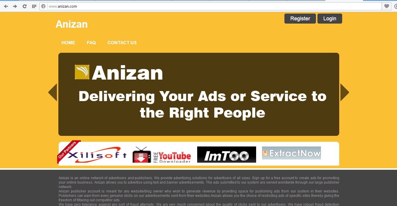 Anizan Google Adsense Alternative