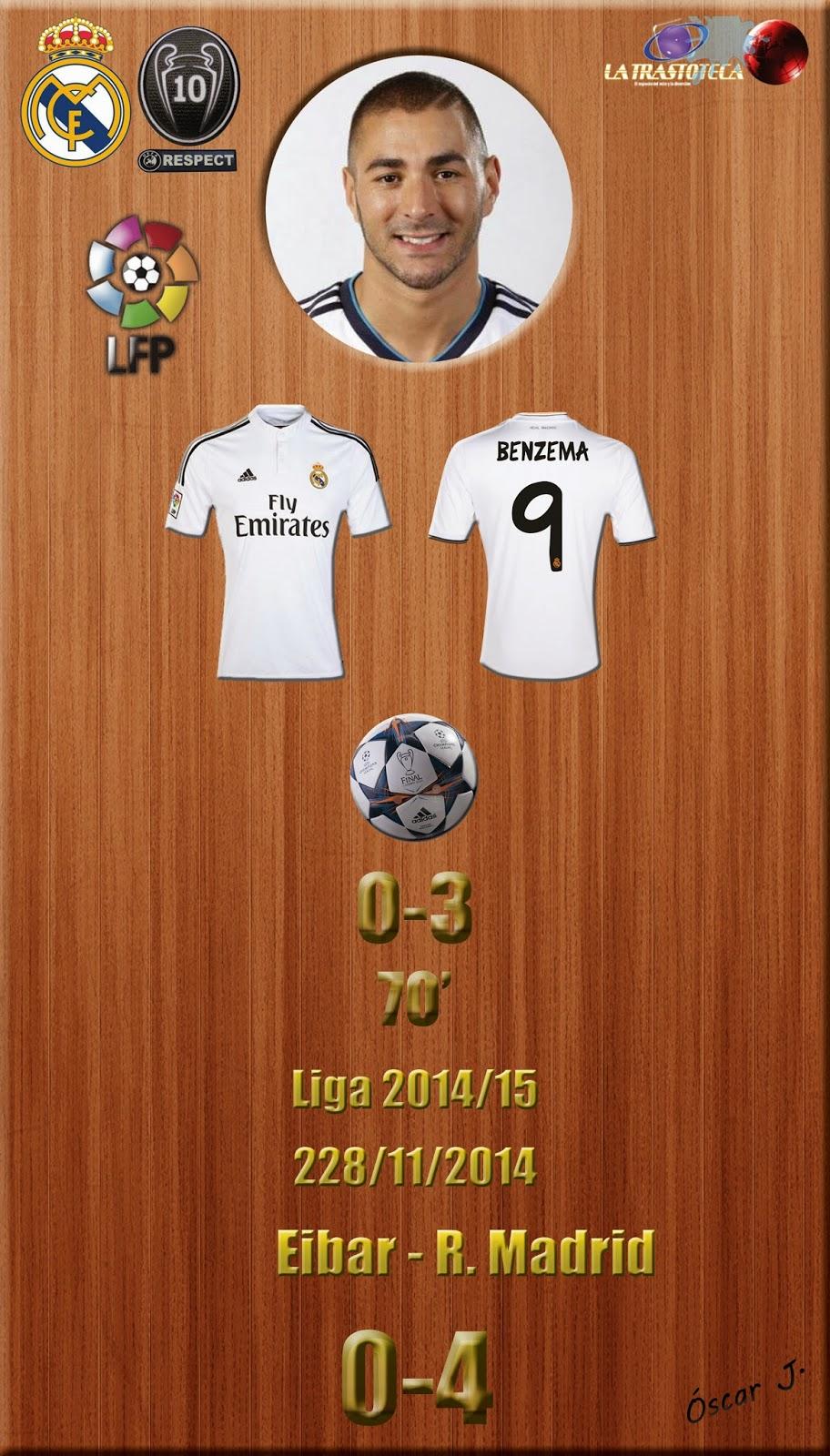 Benzema (0-3) - Eibar 0-4 Real Madrid - Liga 2014/15 - Jornada 12 - (22/11/2014)