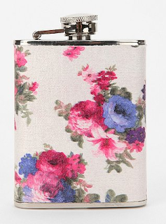 Floral Fabric Wrapped Flask Wild-Society