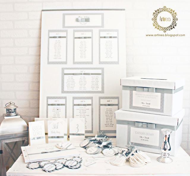 eleganckie srebrne dodatki slubne