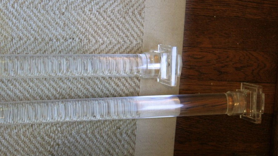 Lucite Curtain Rods Click For Details Round Lucite Curtain Rod