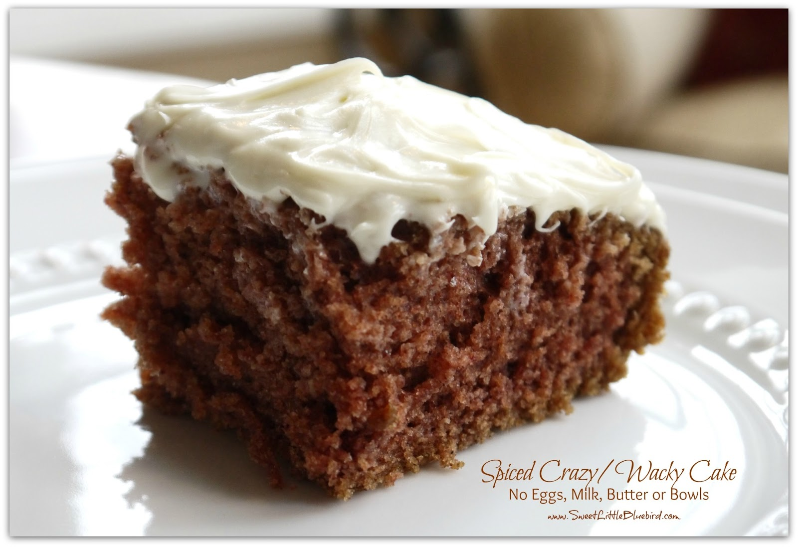 Spiced Crazy Wacky Cake No Eggs Milk or Butter Sweet Little