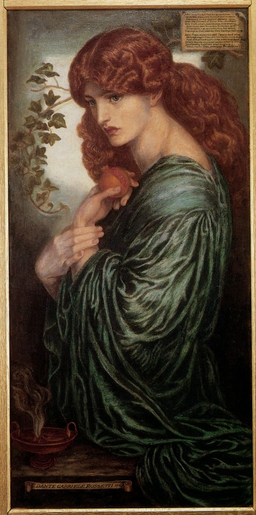 Pre-Raphaelite Painting by Rosetti
