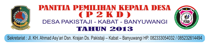 FORMULIR PENDAFTARAN BAKAL CALON KADES 2013