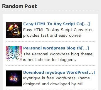 Cara Membuat Random Post Dengan Thumbnail