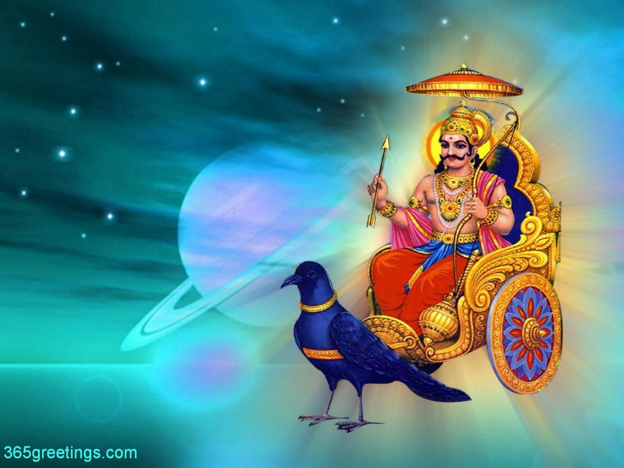 Goddess Lakshmi and Lord Shani