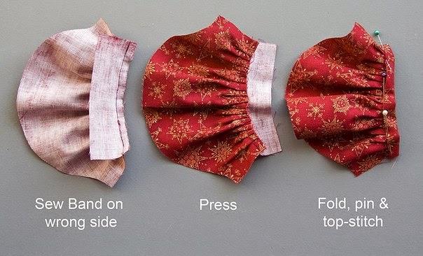 Как сшить рукав фонарик для куклы