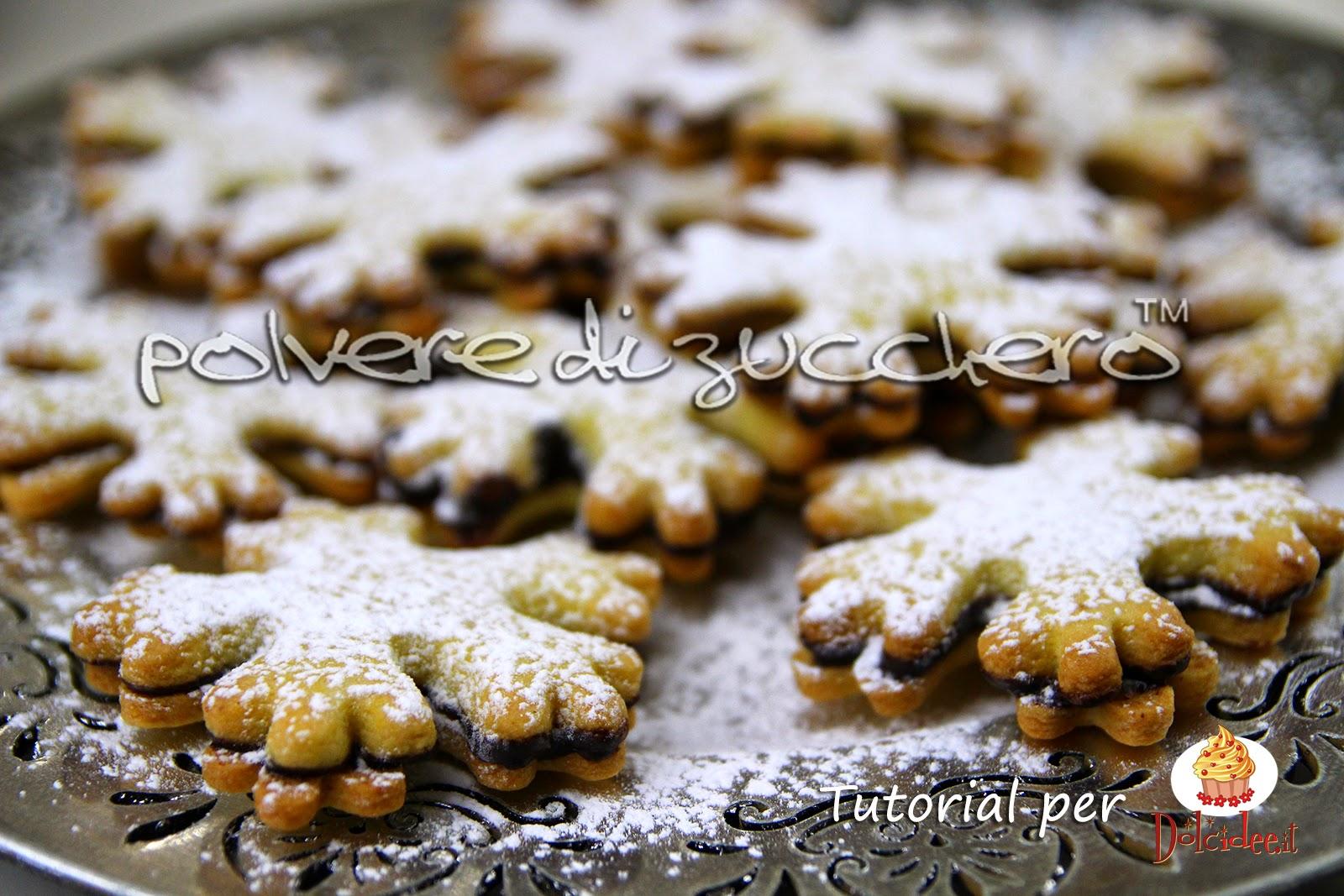 tutorial biscotti frolla glassa al cacao polvere di zucchero dolcidee.it cameo paneangeli