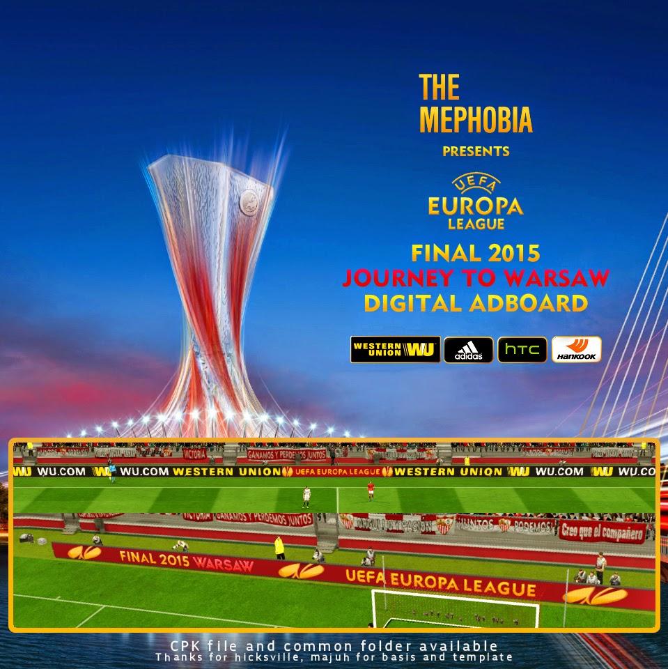 PES 2015 UEFA Europa League Digital Adboards by mephobia