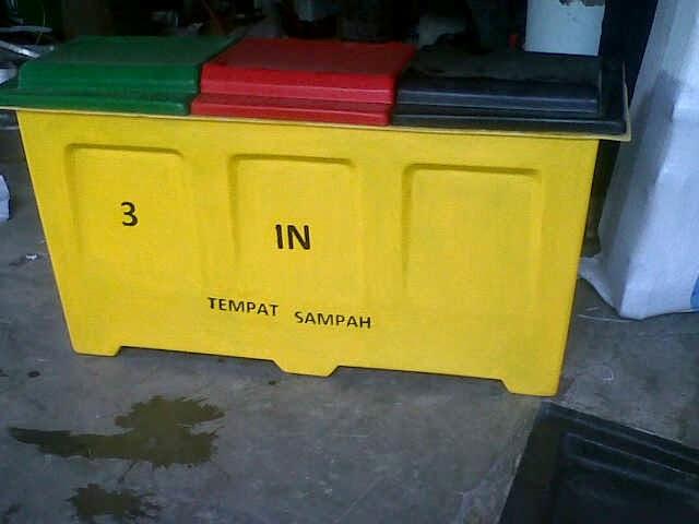 tong sampah fiber 3 in 1 KAP.50 LITER X 3