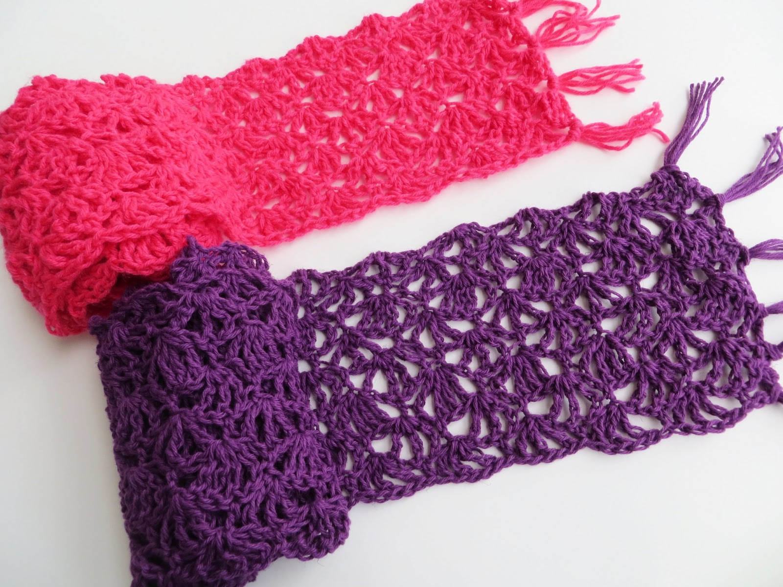 How To Crochet A Scarf : Crochet Dreamz Alana Lacy Scarf Free Crochet Pattern