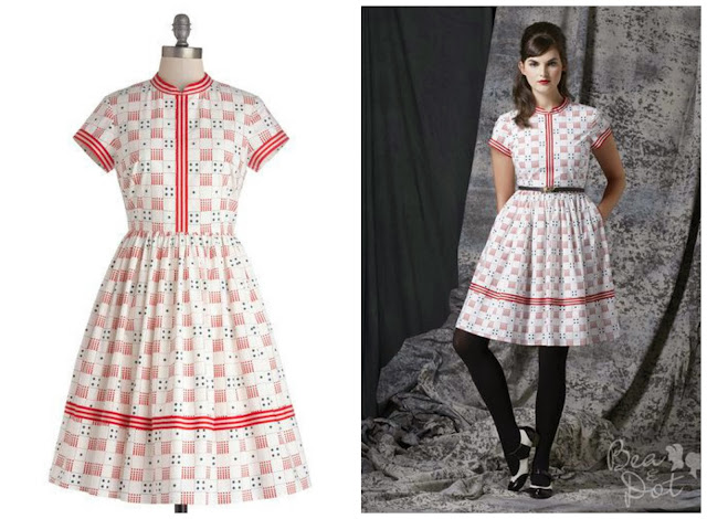 Modcloth, Just Roll With It dress, dice dress, Bea and Dot, vintage style dress, 50s style dress, printed dress, board game dress