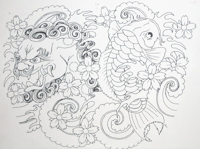 Tatuagem Foo Dog Fu Dog Tattoo Foo Dog Fu Dog - Tattoo Oriental Desenho Draw Sketch Sketchbook