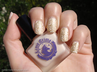 Lime Crime milky ways nuber 2010 barry m gold foil nailz craze nc02 swirls unicorn stamping plate ivory gold nails