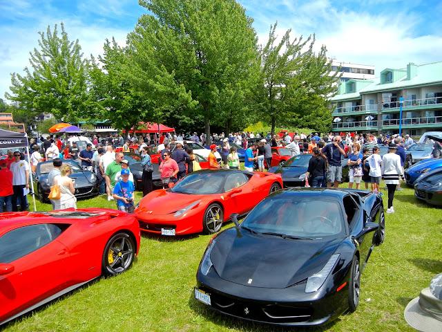 Vancouvers Fathers Day Car Show - Ferrari car show