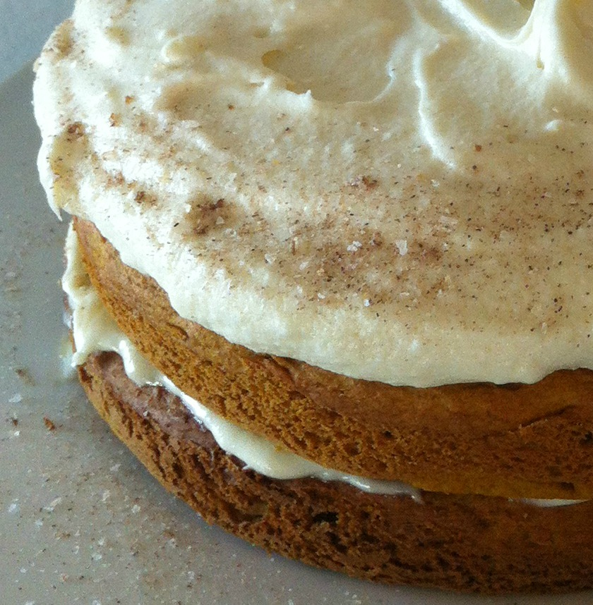... Pumpkin Spice Cake with Maple Cream Cheese Frosting - A Well Crafted