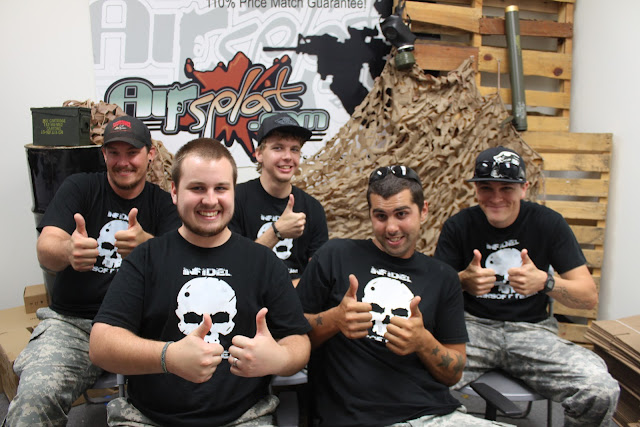 Team Infidel Visits AirSplat   Interview, Giveaways, and More!