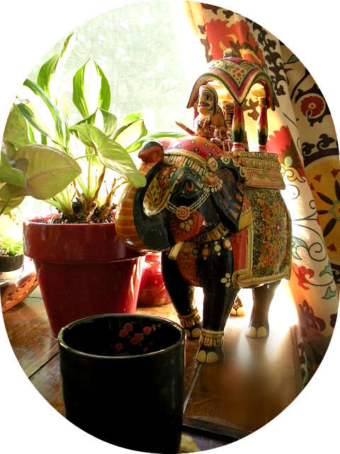 Indian style, Rajasthan lacquered elephant, Indian decor
