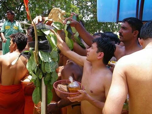 Devotees at shani shingnapur temple