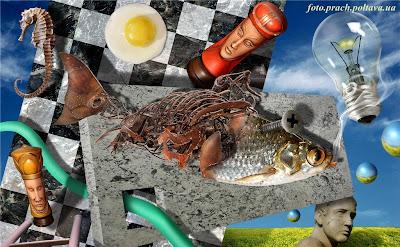 Шахматы (сюрреализм в стиле Сальвадора Дали)