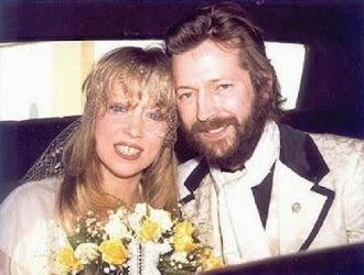 Eric Clapton y su amada Patty (su Layla) en el día de su boda en 1979