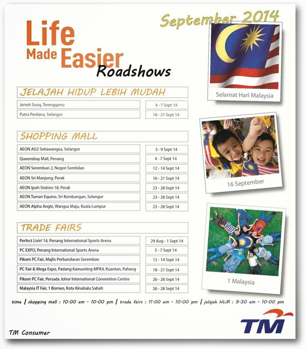 Come and Join Us in September 2014 'Life Made Easier' Roadshows