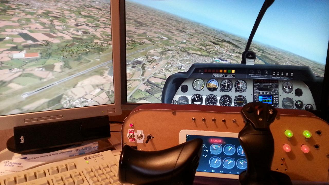 simulateur de vol cockpit pour xplane. Black Bedroom Furniture Sets. Home Design Ideas