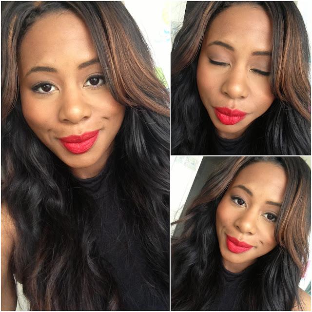 Red Lips On Dark Skin black beauty bloggers